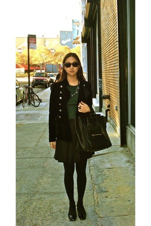 JCrew top - Zara skirt - Theory jacket - vintage from Italy shoes - Celine bag -