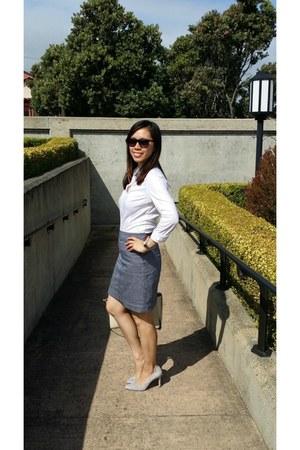 talbots skirt - H&M shirt - ann taylor pumps