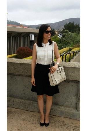 Forever 21 blouse - Loft skirt - ann taylor pumps