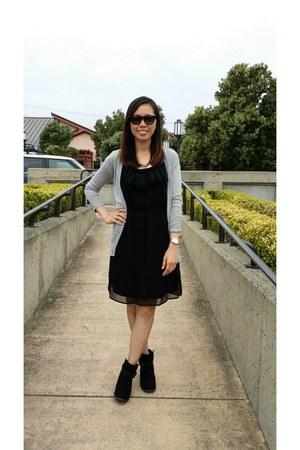 Old Navy boots - Target dress - H&M cardigan