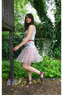 Dark-khaki-loft-top-red-second-hand-belt-light-pink-target-skirt-dark-brow