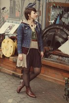 vintage boots - costco shirt - Sugarlips skirt