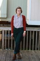 doc martens boots - Target pants - vintage top