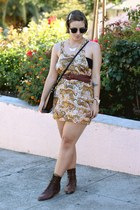 vintage boots - vintage dress