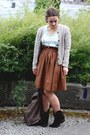 H&M skirt - DSW boots - Yes Walker bag - Target top