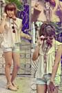 Vincci-scarf-zara-shorts-vintage-topshop-sunglasses-rubi-clogs