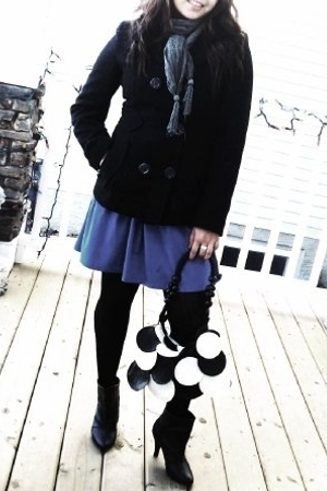Urban Outfitters dress - RW&CO jacket - Esprit scarf - Spring boots