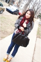 Urban Outfitters scarf - Zara jacket - Old Navy shirt - Aldo purse - DV shoes