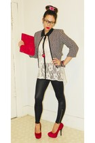 American Apparel leggings - Express blazer - fahrenheit pumps