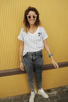 Misslittletouch glasses - Urban Outfitters jeans - Puma sneakers