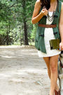 Beige-papaya-dress-brown-target-shoes-green-tj-maxx-vest-gold-forever-21-n