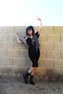 Black-lace-up-j-diamond-boots-black-video-undead-demonbabies-t-shirt-navy-vi