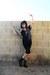 black lace-up J Diamond boots - black video undead Demonbabies t-shirt - navy vi
