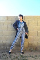 navy Ralph Lauren shoes - charcoal gray Forever 21 blazer - sky blue Urban Outfi