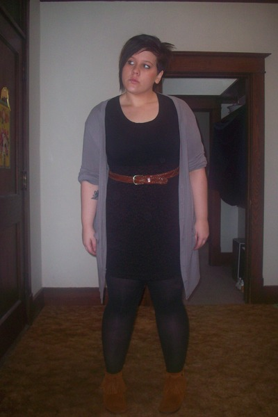 Mossimo for Target sweater - Goodwill skirt - Goodwill belt - Minnetonka boots -