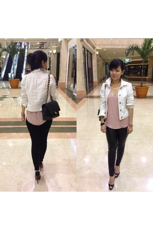 Sportsgirl jacket - Zara leggings - Chanel bag - Zara top