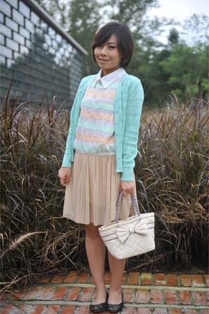 Miss mios closet blouse - Miss mios closet cardigan - Miss mios closet skirt