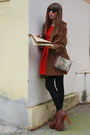 Brown-jeffrey-campbell-boots-ruby-red-zara-dress-camel-bimba-lola-bag-br