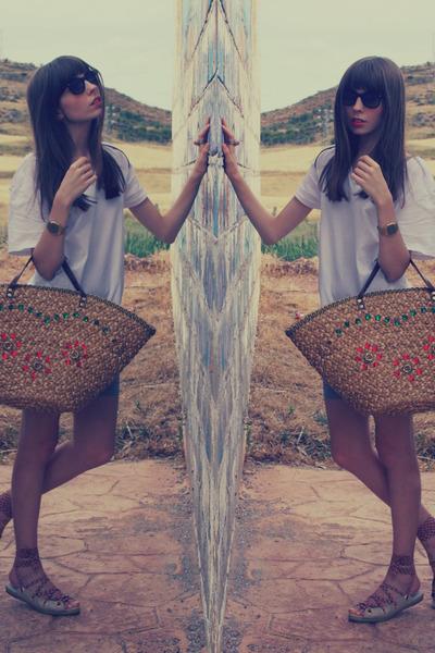 camel vintage bag vintage bag - silver cotton Zara leggings