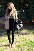 camel Zara shoes - camel Zara shirt - dark brown Friis & Company bag - charcoal