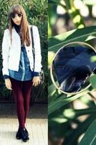 denim shirt BLANCO shirt - leather Zara boots - denim jacket BLANCO jacket