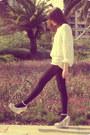 Black-calzedonia-tights-american-apparel-shorts-ena-macana-bracelet-so-cra