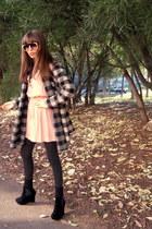 hot pink H&M accessories - black Primark shoes - light pink Mango dress