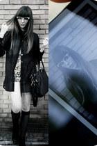 black black boots Bimba & Lola boots - black leather bag Friis & Co bag - light