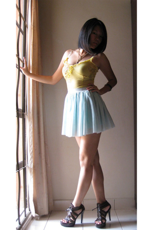 blue tutu Velvet Ribbon skirt - brown awesome online shoes