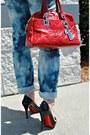 Diy-jeans-versace-bag-christian-louboutin-heels-alc-blouse