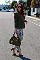 nude sam edelman shoes - white jeans - green Target shirt