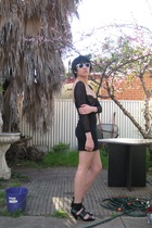Lover dress - Ray Ban sunglasses - shoes