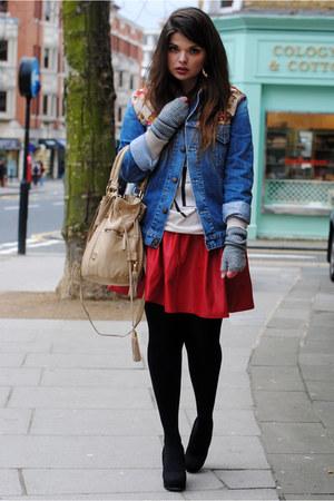 vintage jacket - asos skirt - Topshop t-shirt