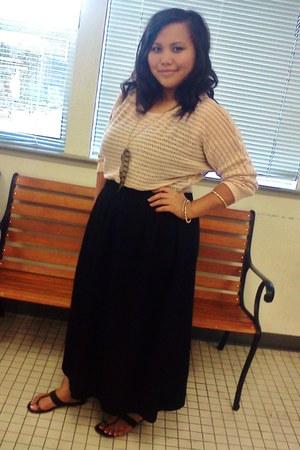 cotton skirt - sweater