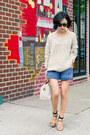 Beige-pastel-accent-misspouty-sweater-off-white-speedy-louis-vuitton-bag