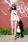 Light-pink-linen-misspouty-blazer-off-white-miu-miu-bag