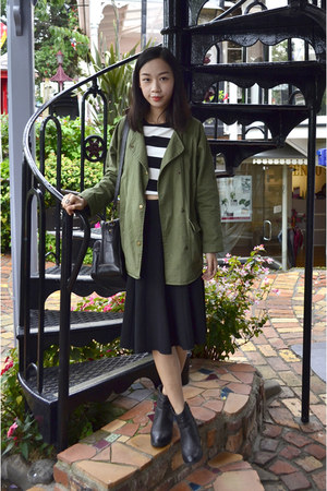 parka OASAP jacket - striped crop OASAP top