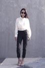Button-up-h-m-shirt-black-oasap-sunglasses-black-trousers-cos-pants