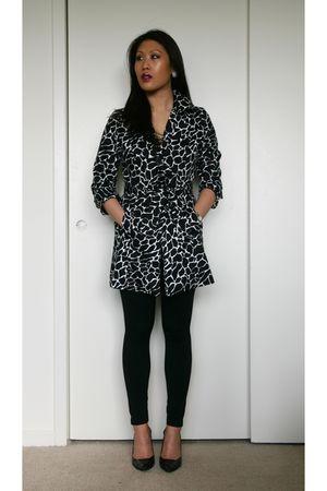 Forever 21 jacket - leggings - sam edelman boots - MARIPE HEELS - RAMPAGE FLATS