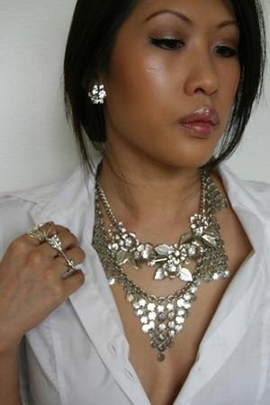 Forever21 skirt - Motivi top - River Island necklace - MJR Outlet necklace - Ald