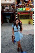BLANCO dress - vintage belt - H&M purse - Parfois shoes