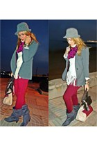 white Mango sweater - brick red Primark jeans - heather gray el corte ingles hat
