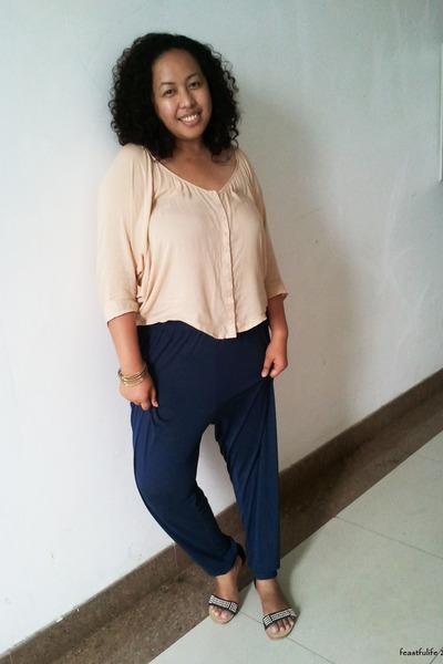 Bershka-blouse-harem-pants-h-m-pants-studded-taobao-
