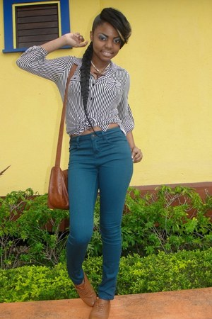 Forever21 pants - Claires bag - Forever 21 blouse - Aldo flats