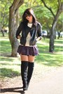 Black-zara-boots-black-zara-coat-ruby-red-zara-shorts