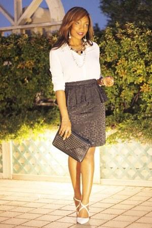 Forever 21 shirt - Call it Spring clutch purse - Forever 21 peplum skirt