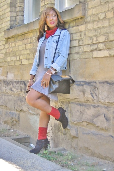 the shoe company boots - winners dress - Forever 21 jacket