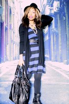 Forever 21 boots - H&M dress - gifted bag