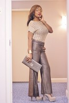 Local Store Clutch purse - Bebe pants - GoMax pumps - Forever 21 blouse