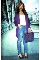Bebe jeans - Nine West Clutch purse - Nine West pumps - Bebe top